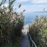 chemin vers plage privée golfe ajaccio
