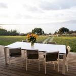 terrasse avec vue sur le golfe d'ajaccio