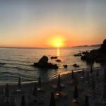 coucher de soleil dans le golfe d'Ajaccio
